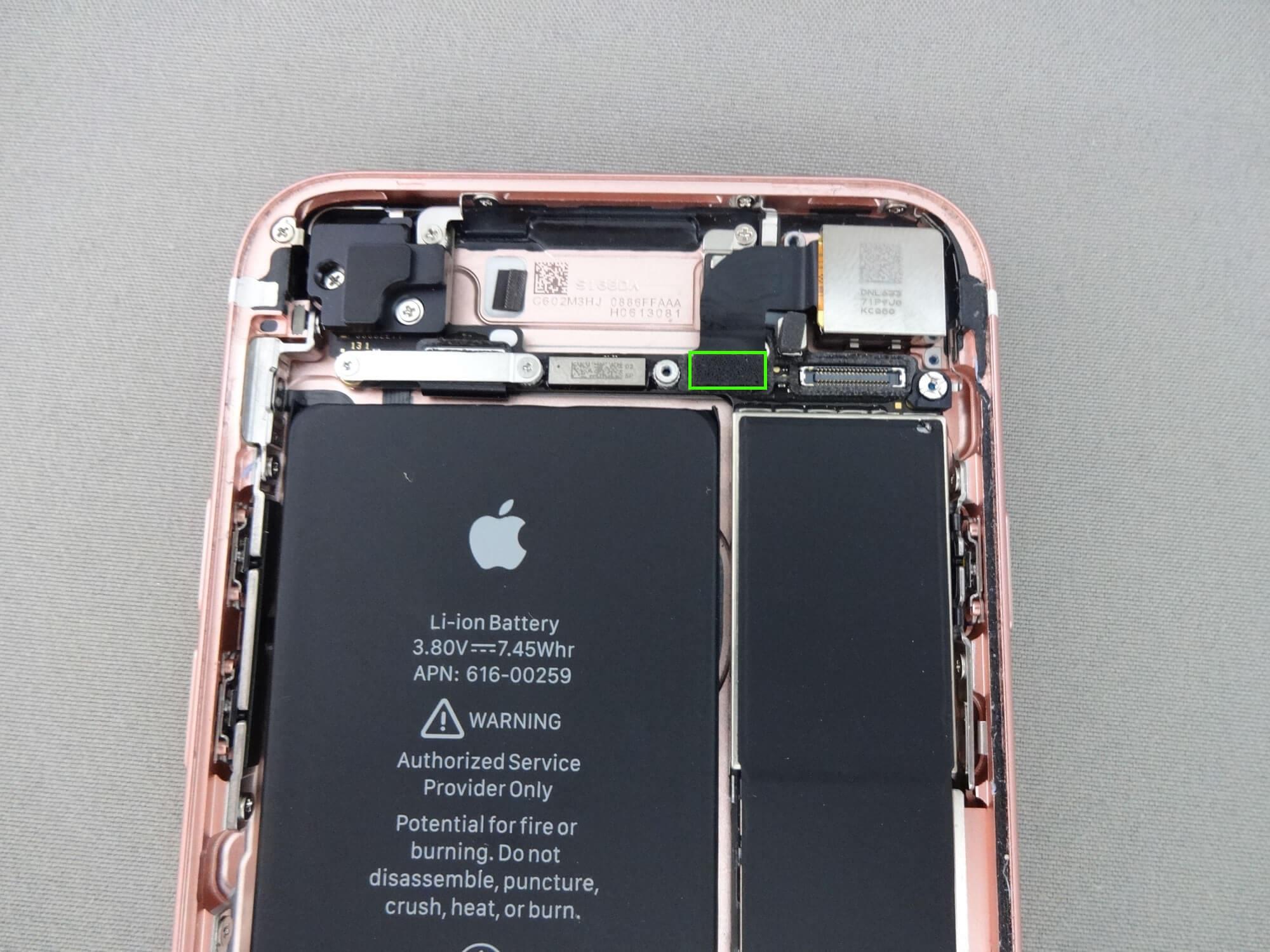 iPhone7 バックカメラ コネクタ