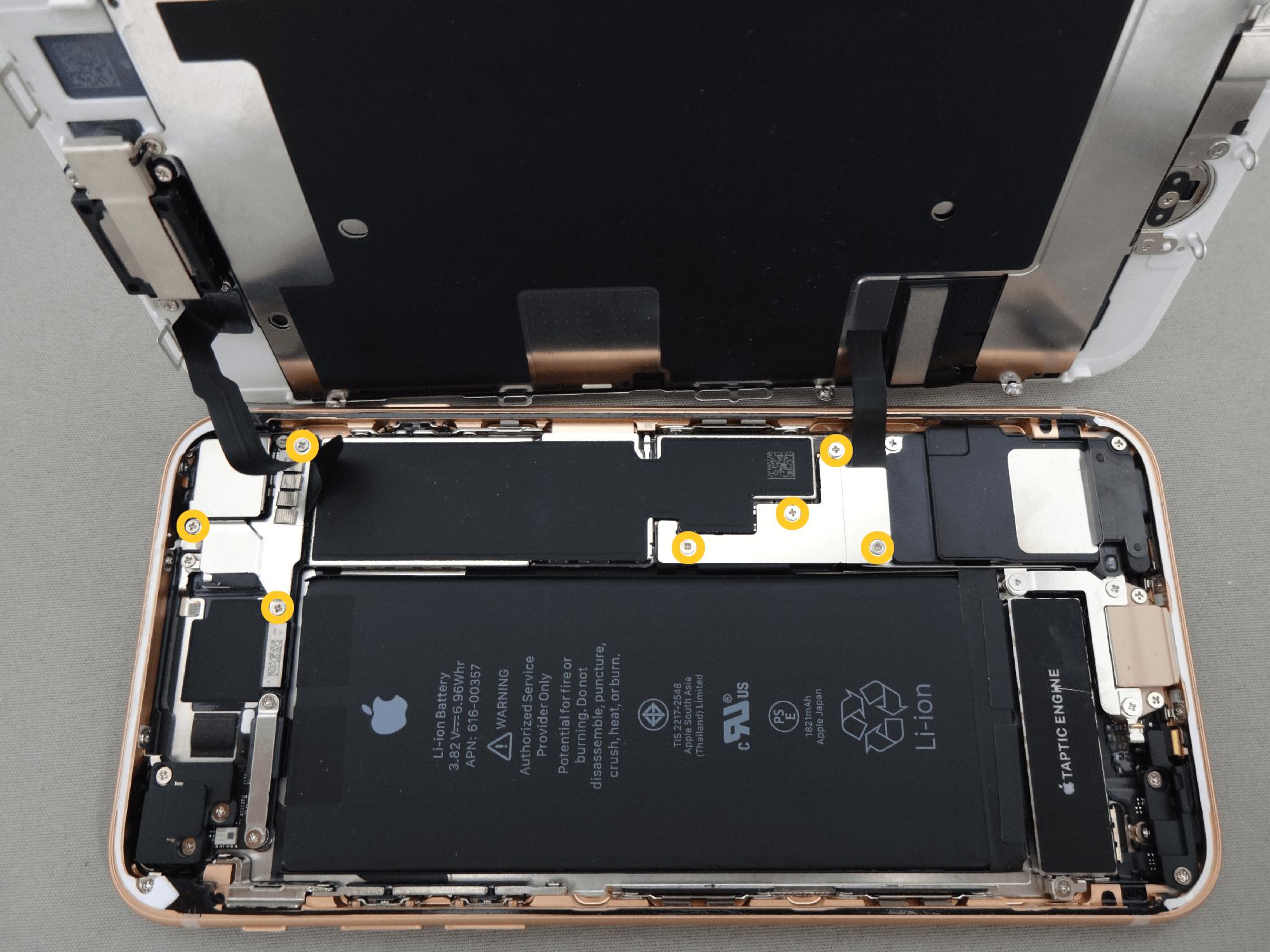 iPhone8 コネクタ 固定板