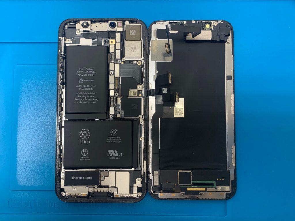 iPhoneX フロントパネル分解
