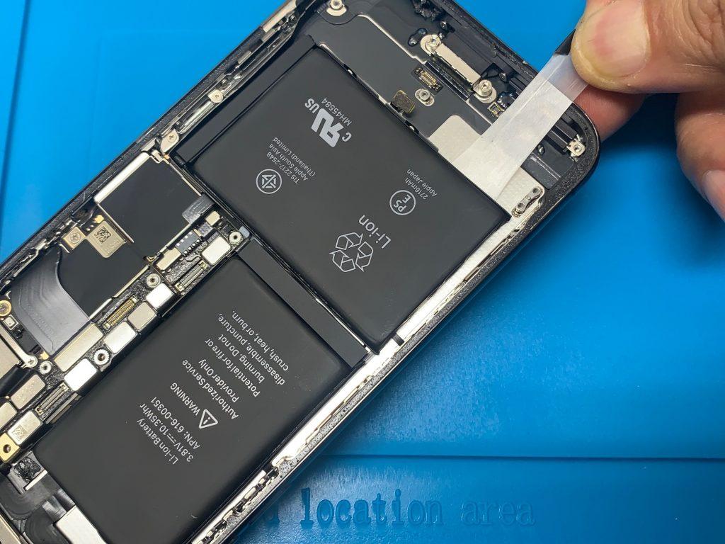 iPhoneX バッテリーテープ