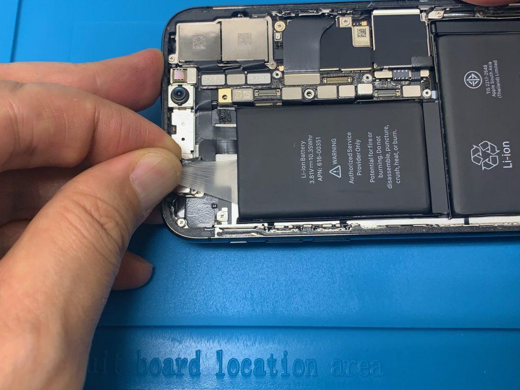 iPhoneX 上部 バッテリーテープ