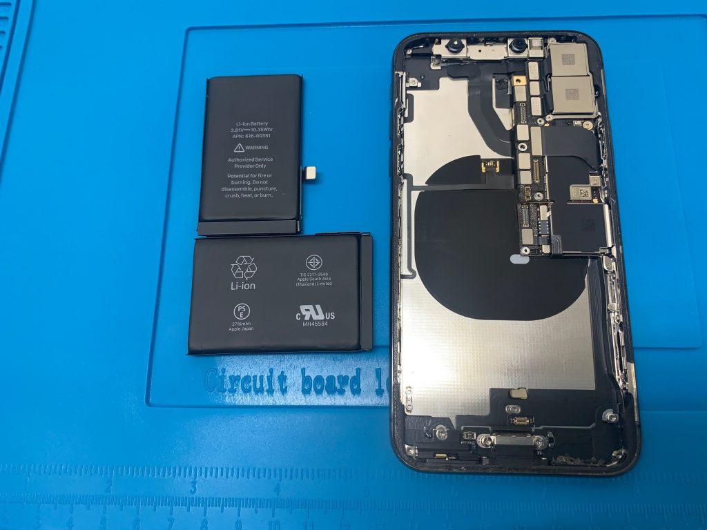 iPhoneX バッテリー 分解
