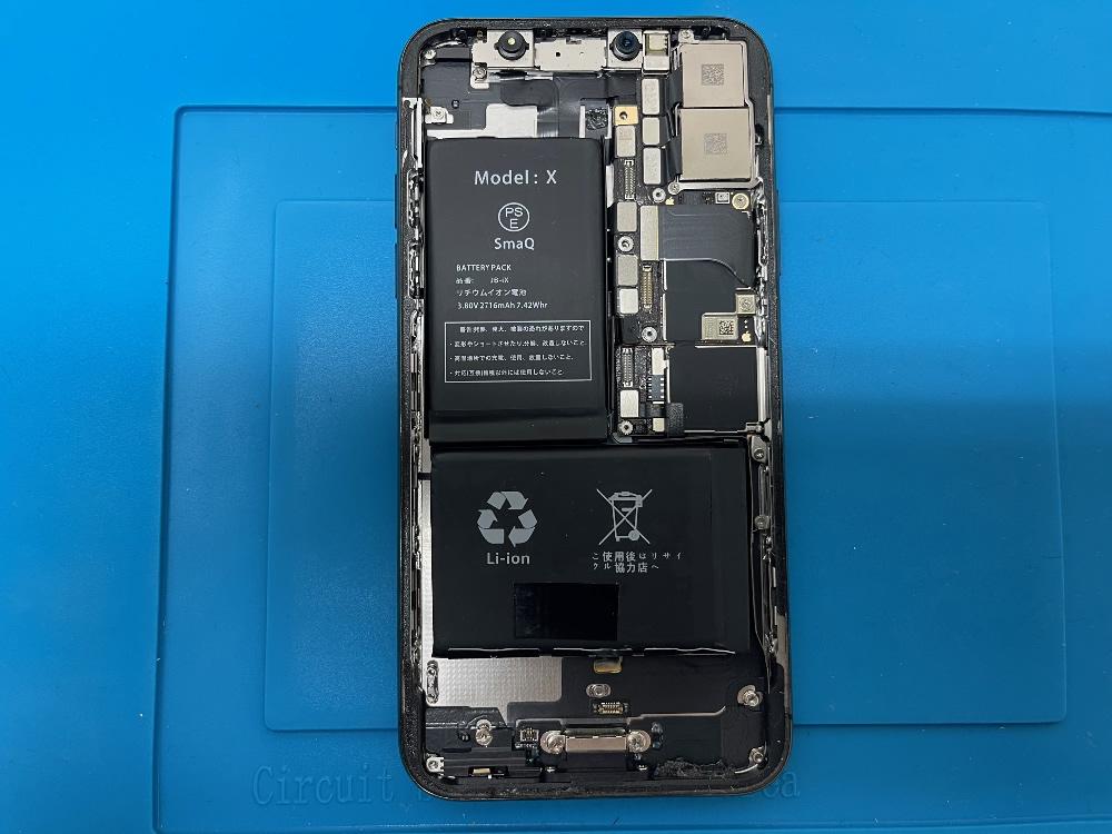 iPhoneX バッテリー交換 組み立て