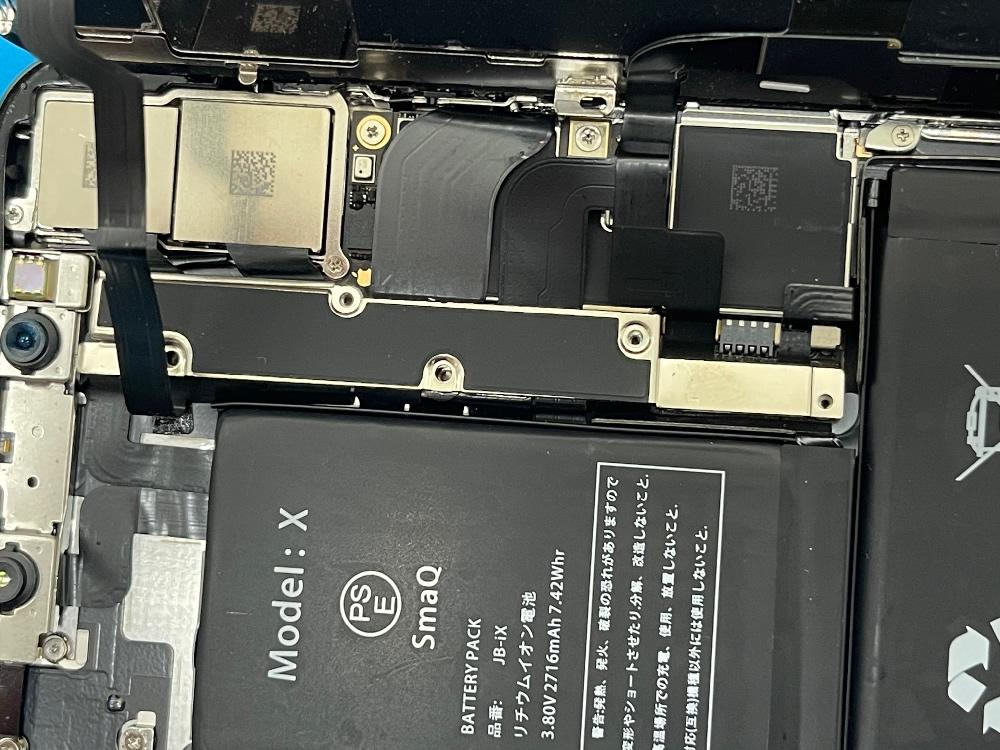iPhoneX フロントパネル 取り付け