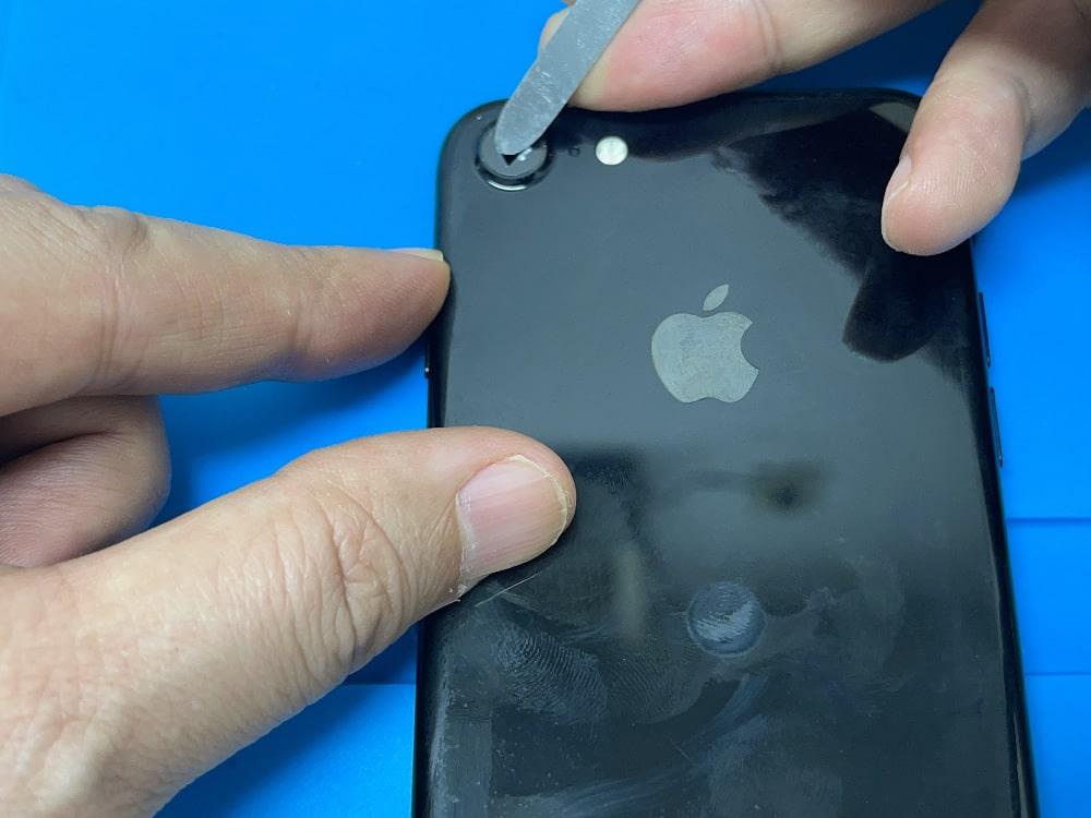 iPhone7 バックカメラレンズ交換